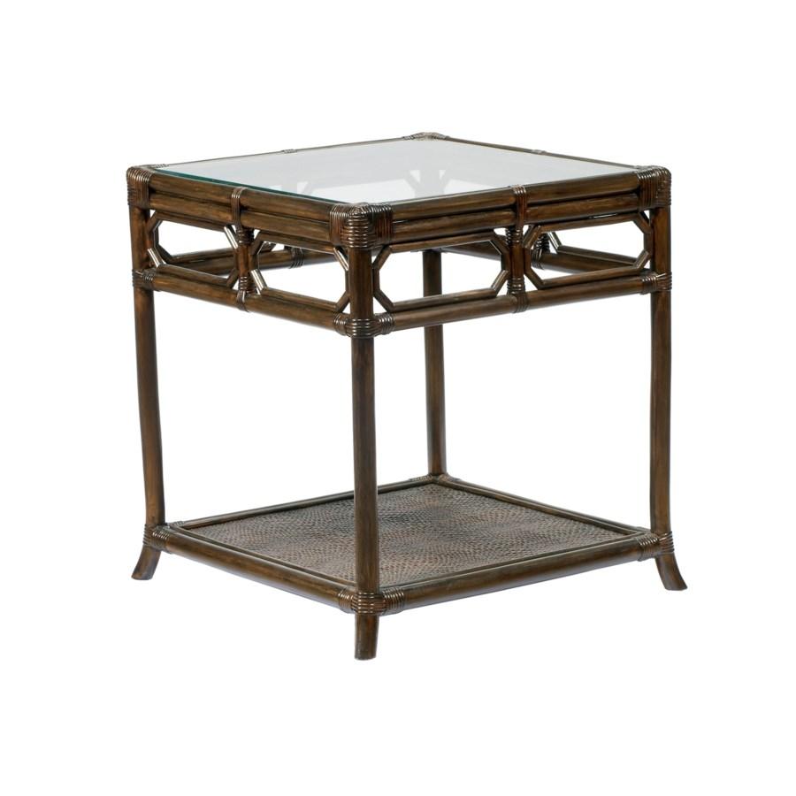 Regeant Side Table w/Glass - Clove