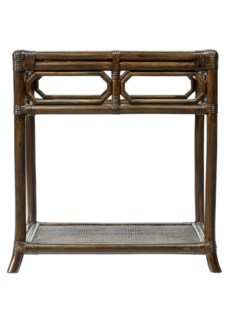 Regeant Side Table w/Glass - Clove
