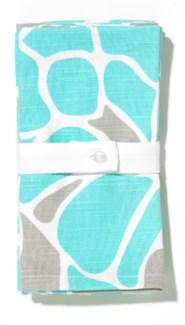Rapee Cabana Hibiscus Aqua Napkin Set of 4