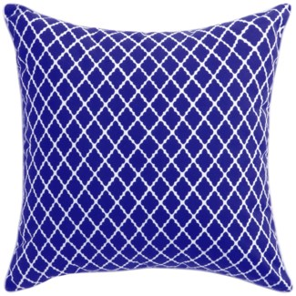 Florence Broadhurst Antique Lattice Cobalt Cushion 22x22 (Outdoor)