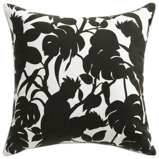 Florence Broadhurst Cockatoos Black Cushion 22x22 (Outdoor)