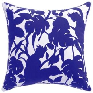 Florence Broadhurst Cockatoos Cobalt Cushion 22x22 (Outdoor)