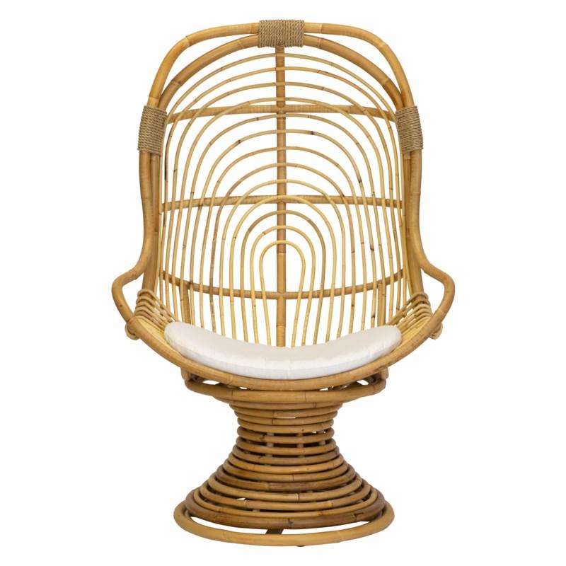 San Blas Swivel Chair in Natural