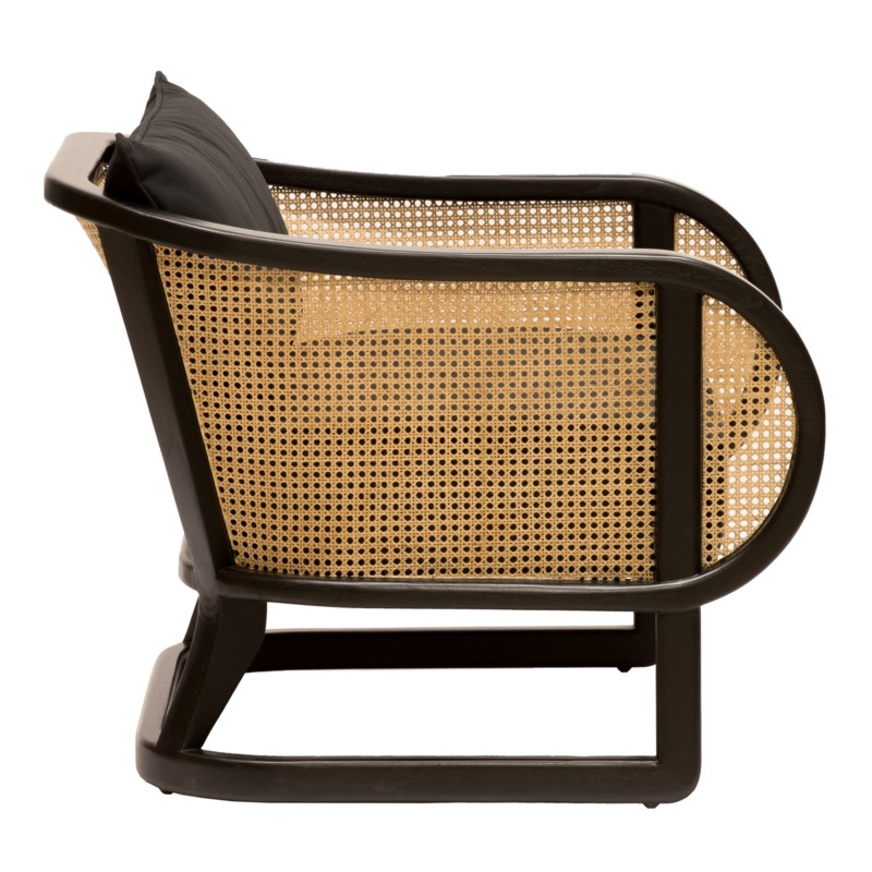 Stockholm Lounge Chair in Black