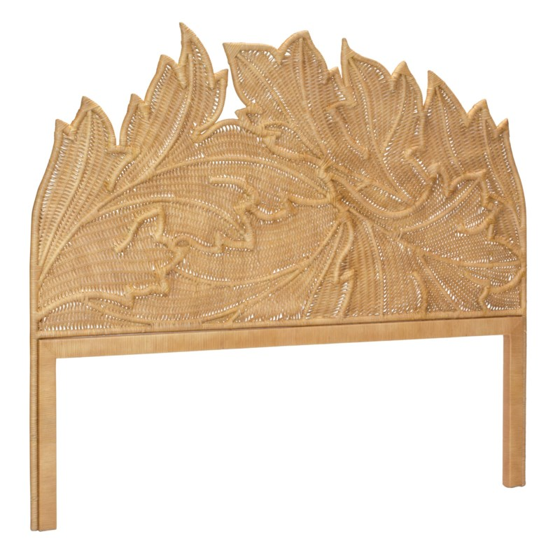 Acanthus Queen Headboard in Natural