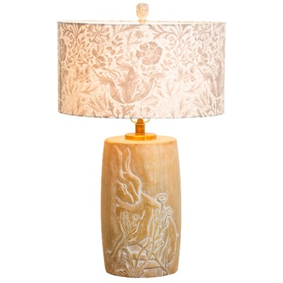 Forest Lamp in Whitewash