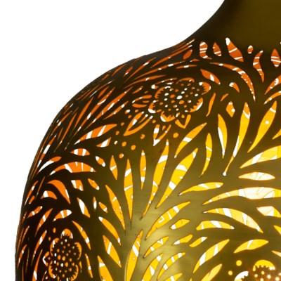 Marigold Round Pendant in Brass