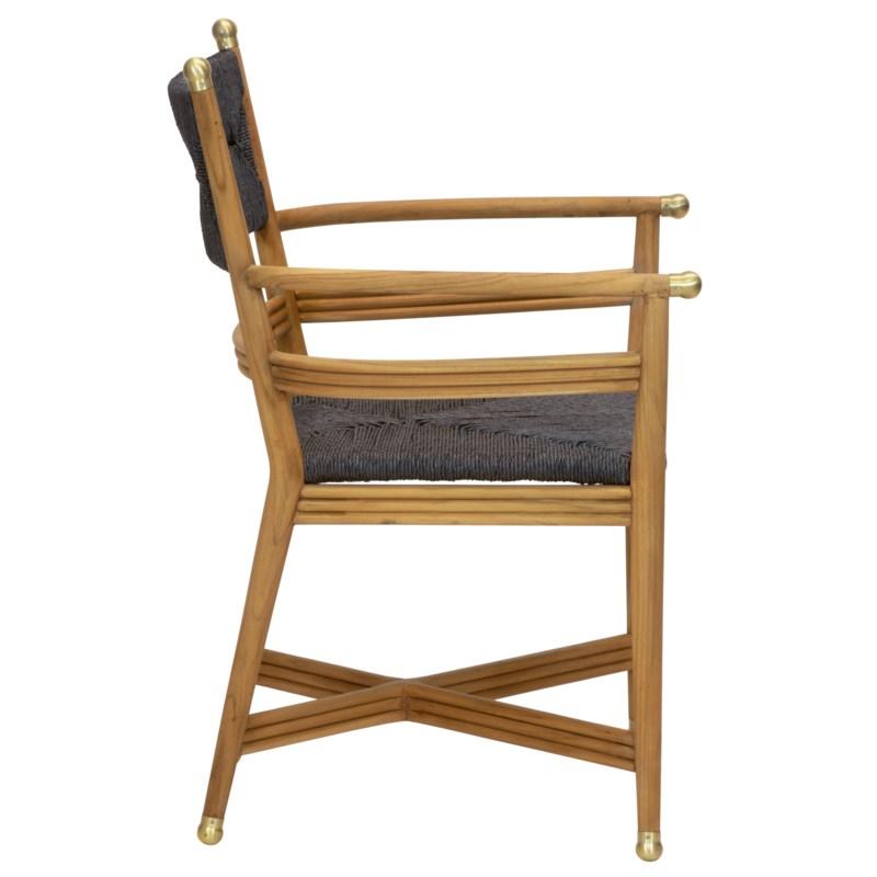 Kelmscott Rush Arm Chair in Black