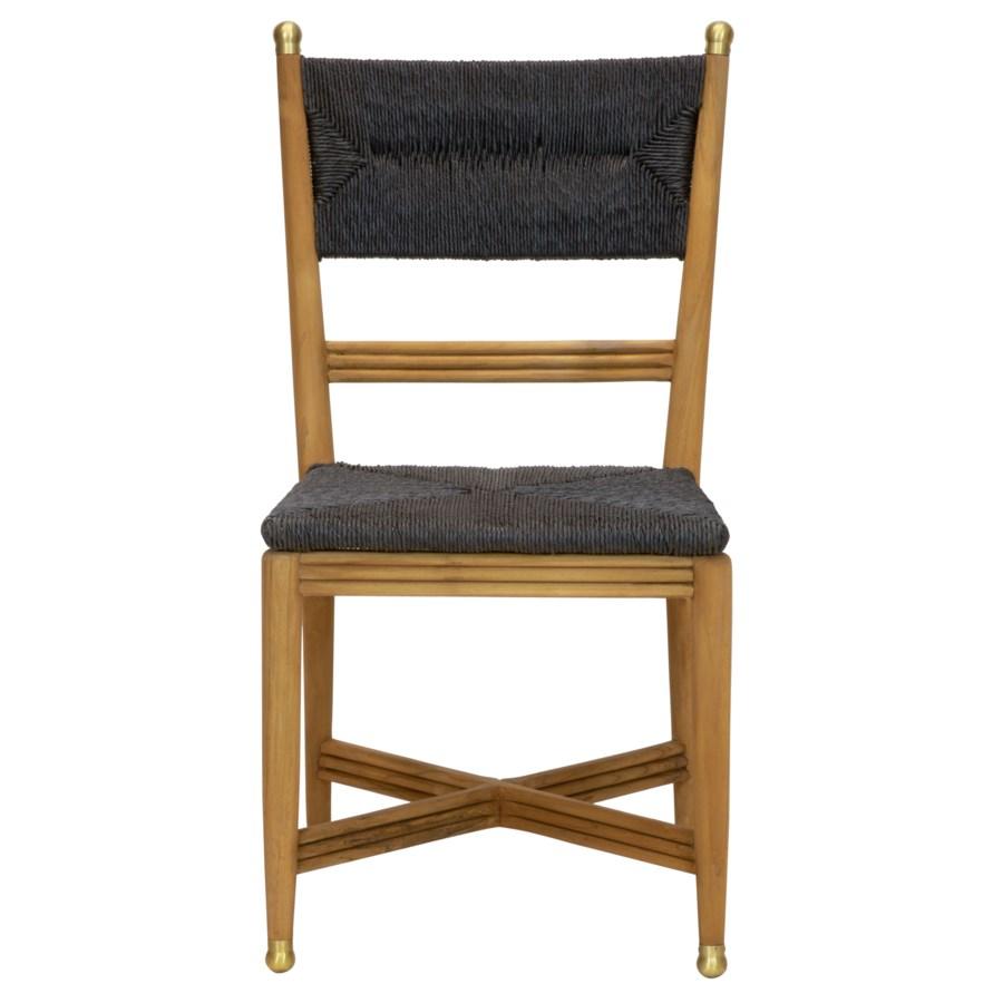 Kelmscott Rush Side Chair in Black