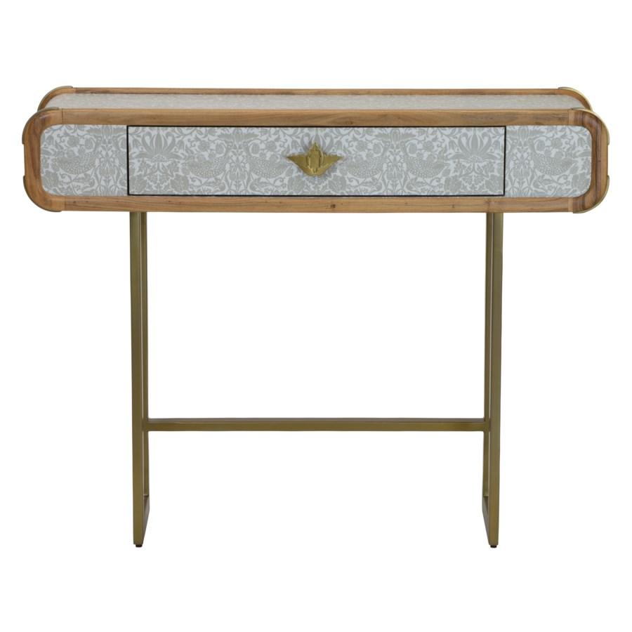 Strawberry Thief Console Table in Neutral