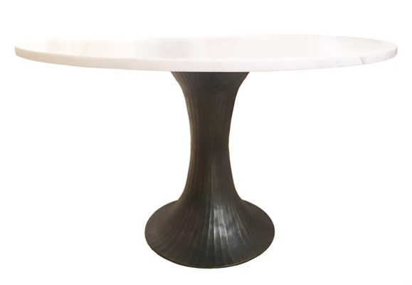 Alice Table Base in Antique Brass