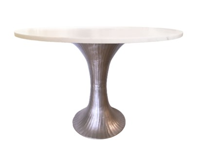 Alice Table Base in Pewter