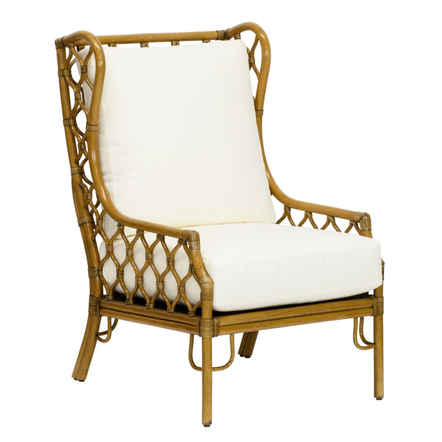Ambrose Wing Chair in Nutmeg
