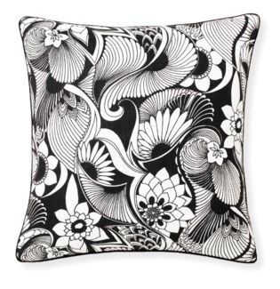 Florence Broadhurst Aubrey Black Cushion 20x20