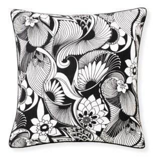 Florence Broadhurst Aubrey Black Cushion 20x20