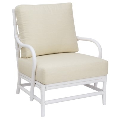Ava Lounge Chair - White