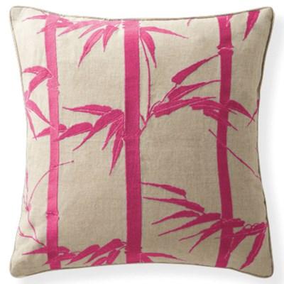 Florence Broadhurst Bamboo Hawaiian Magenta Cushion 18 x 18