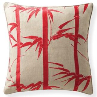 Florence Broadhurst Bamboo Hawaiian Rouge Cushion 18x18