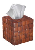 Barclay Tissue Cover in Mahogany