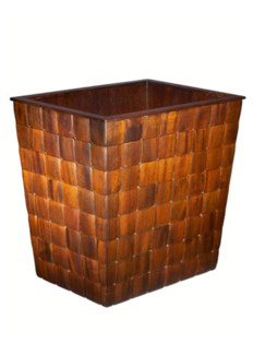 Barclay Wastebasket in Mahogany