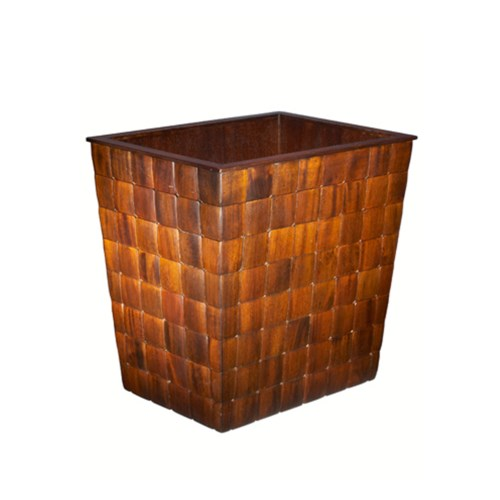 Barclay Wastebasket in Mahogany