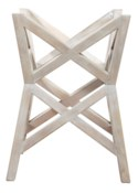 Bridge Dining Table Base in White Wash