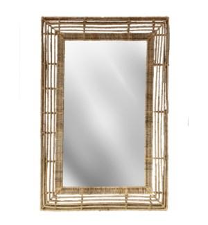 Beehive Rectangular Mirror in Natural
