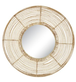 Beehive Round Mirror in Natural