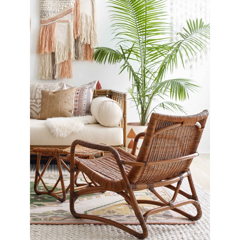 Bodega Lounge Chair + Ottoman in Natural