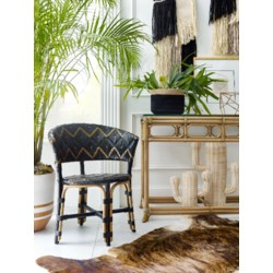 Pinnacles Occasional Chair in Black/Gold
