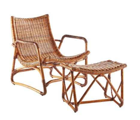 Bodega Lounge Chair & Ottoman - Natural
