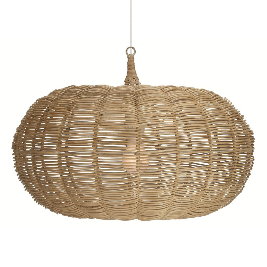 Calabash Short Pendant in Natural