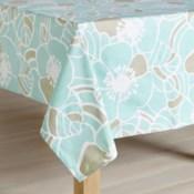 Rapee Cabana Hibiscus Aqua Tablecloth 300cm