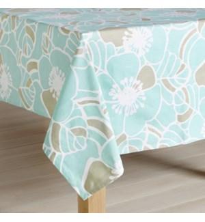 Cabana Hibiscus Aqua Tablecloth - LIQ