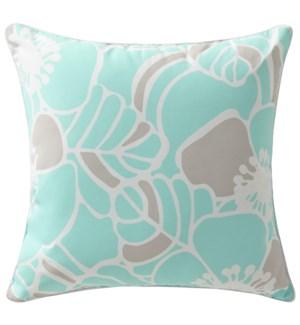 Cabana Hibiscus Aqua Cushion (Outdoor) ADD INSERT PSF-20X20 - LIQ