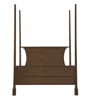 Caprice Four Poster King Bed in Hazelnut