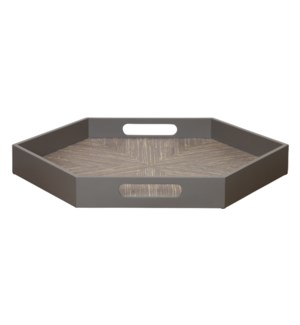 Caprice Hexagonal Tray in Porcini