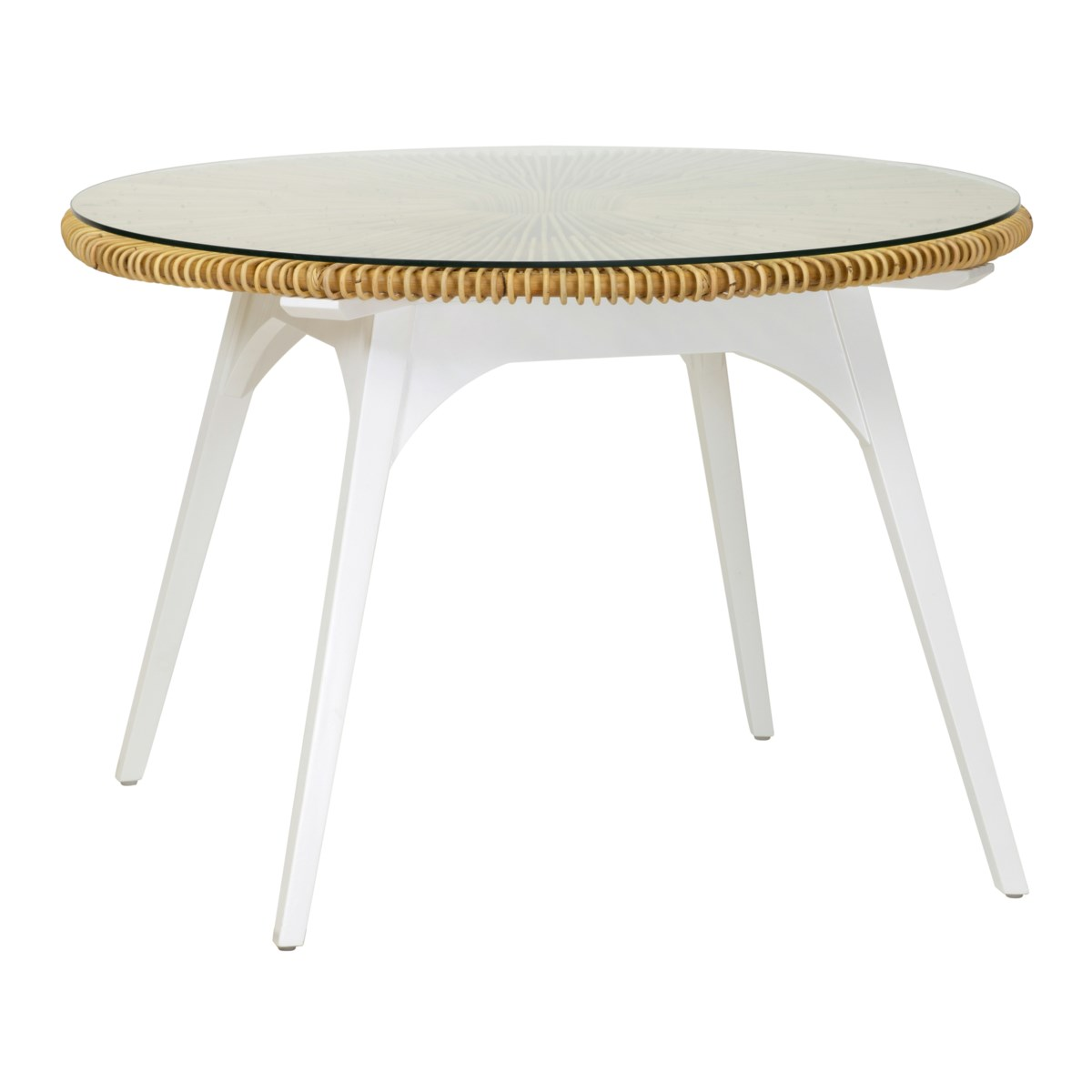 Clemente Dining Table in Natural/White