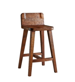 Bar Stool, Hand-hewn teak