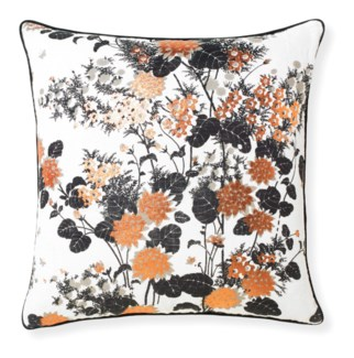 Florence Broadhurst Chinese Gardens Black Cushion 20x20
