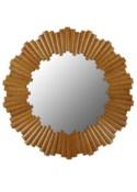 Charles Round Mirror in Nutmeg
