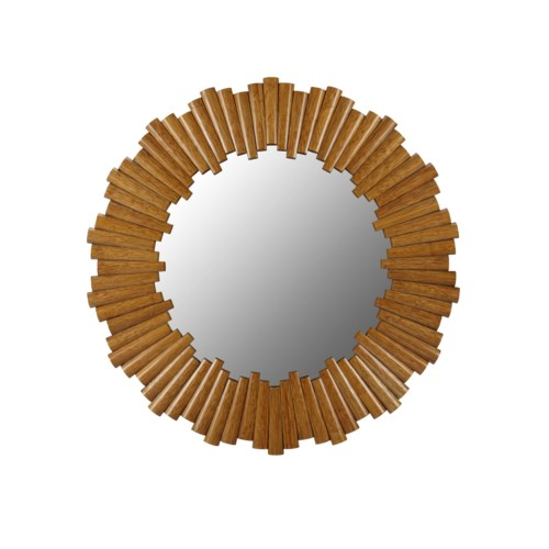 Charles Round Mirror in Nutmeg