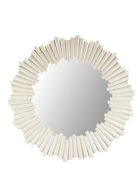Charles Round Mirror in White
