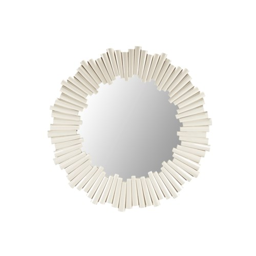 Charles Round Mirror in White