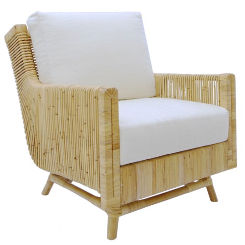 Calistoga Lounge Chair in Natural ADD CUSHION CLLCCS-RI