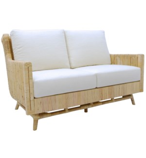 Calistoga Love Seat in Natural