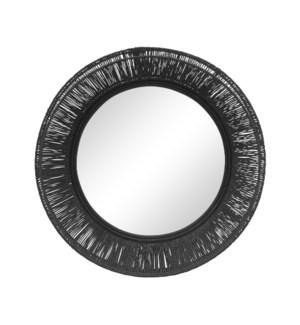 Collins Small Mirror in Black
