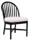 Carousel Dining Chair in Black Caviar