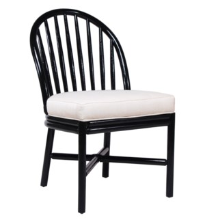 Carousel Side Chair in Black Caviar