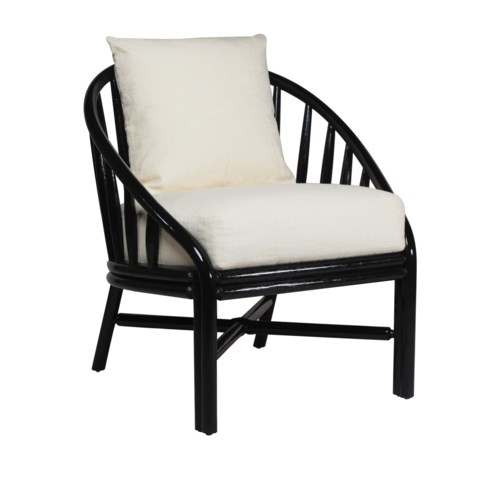 Carousel Lounge Chair in Black Caviar